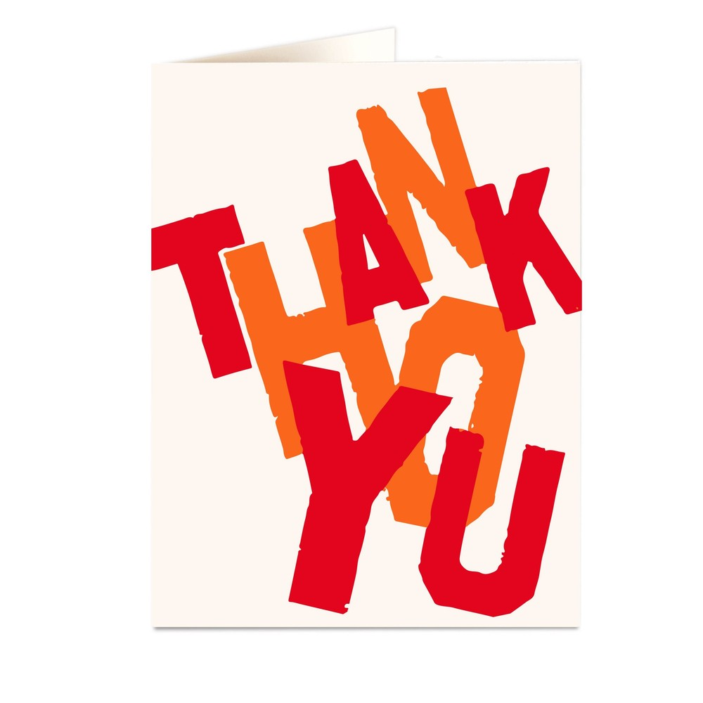 Archivist Thank You Colours Card None