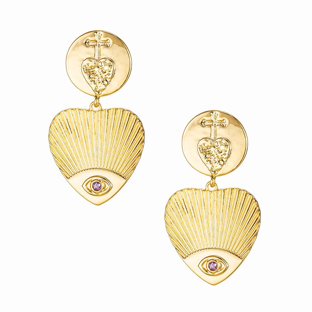 Celeste Starre Love Warrior Earrings Gold