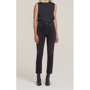 Agolde Riley High Rise Crop Jeans in Panoramic
