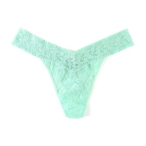 Hanky Panky Signature Lace Original Rise Thong in Mint Sprig