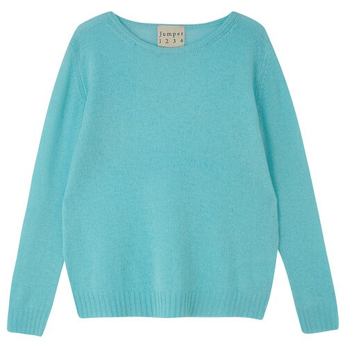 Jumper 1234 Stocking Crew Jumper in Ice Green Turquoise