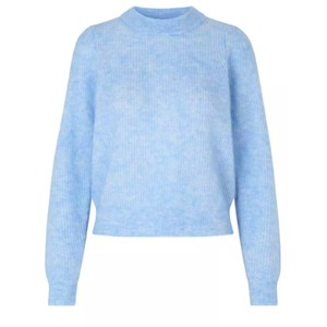 Second Female Brooky Knit Puff O-Neck in Blue