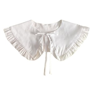 KatieAndJo Wide White Cotton Frill Collar preorder arriving 16th FEB