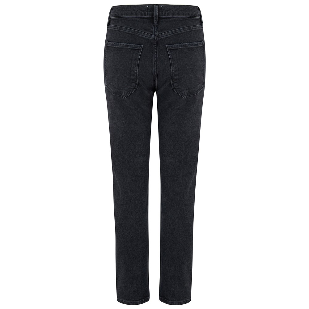 Agolde Riley High Rise Crop Jeans in Panoramic Grey