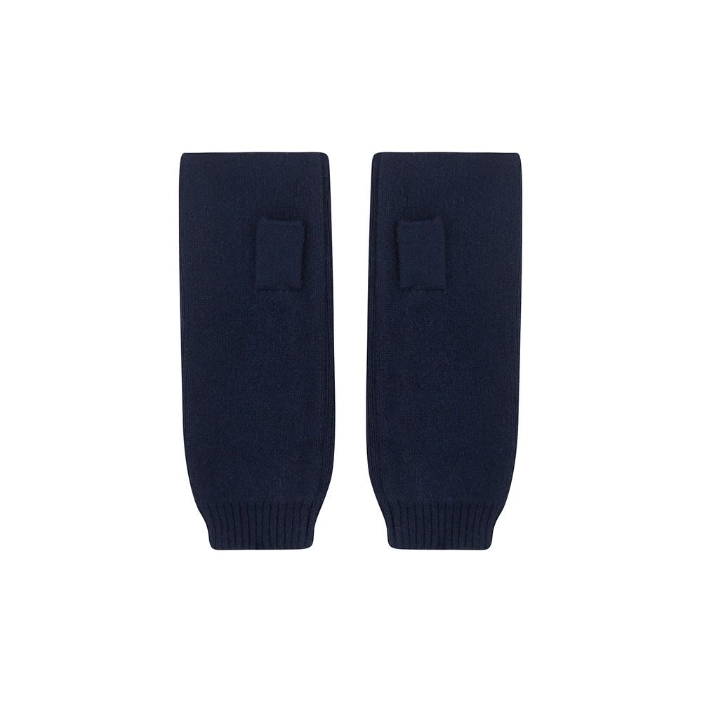 KatieAndJo Fingerless Cashmere Gloves in Navy Navy