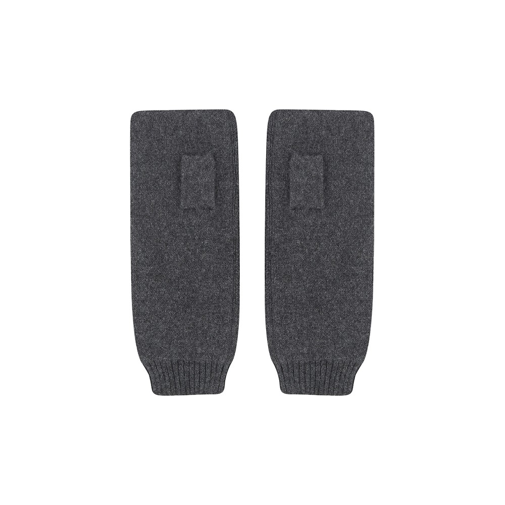 KatieAndJo Fingerless Cashmere Gloves in Charcoal Anthracite