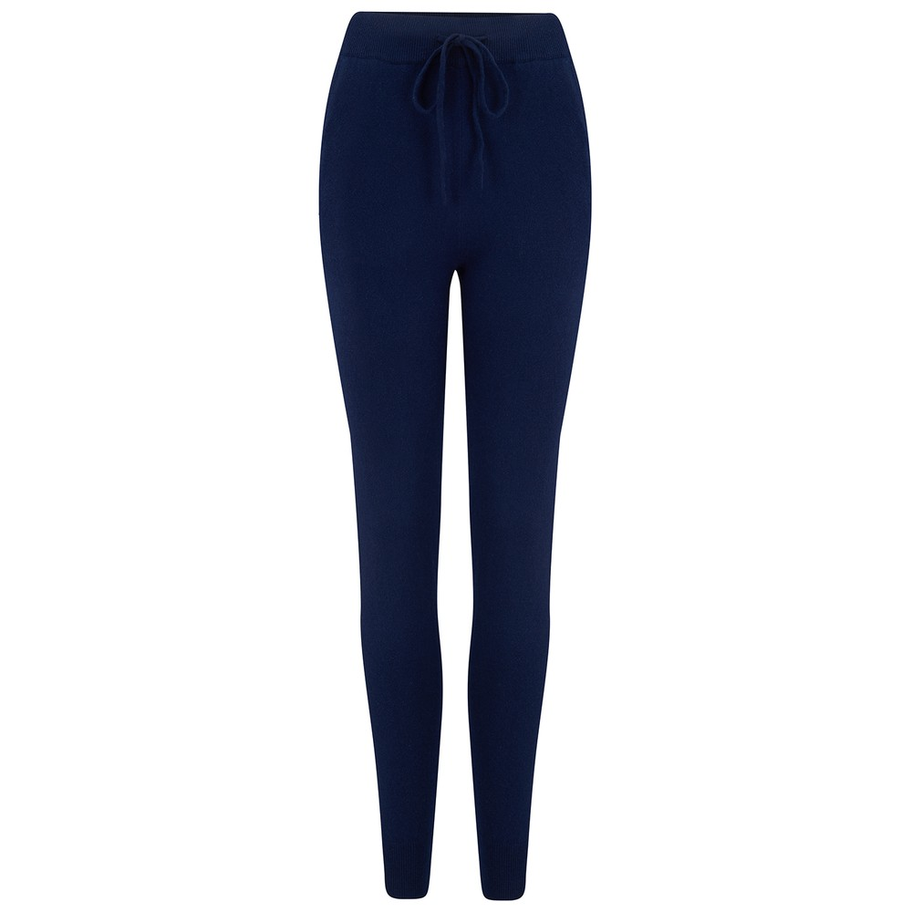 KatieAndJo Cashmere Fitted Joggers Navy