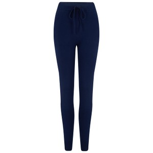 KatieAndJo Cashmere Fitted Joggers in Black  in Navy