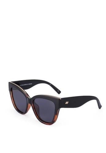 Le Specs Le Vacanze Sunglasses in Black Tort Splice/ Gold Black