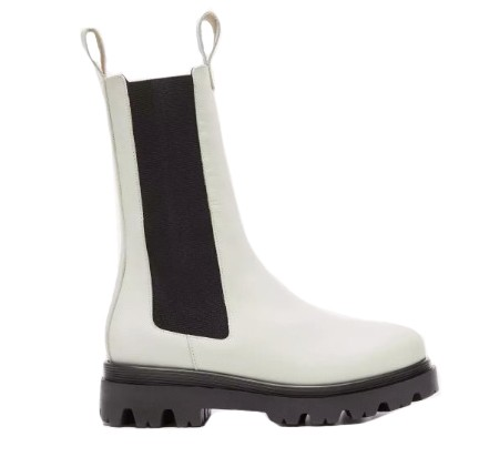 Flattered Lia Leather Boots in White White