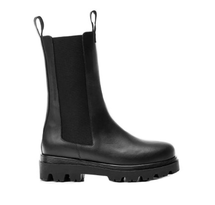 Flattered Lia Leather Boots in Black Black