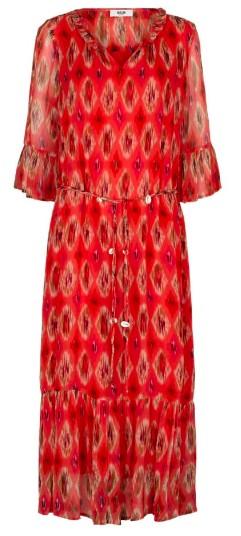 Moliin Vicki Dress in Calypso Coral Red