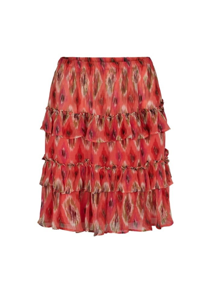 Moliin Birthe Skirt in Calypso Coral Red
