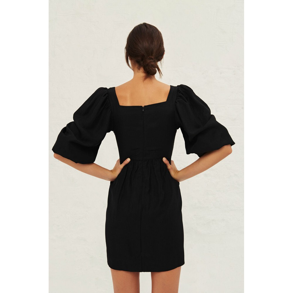 Ba&sh Palerme Dress in Black Black