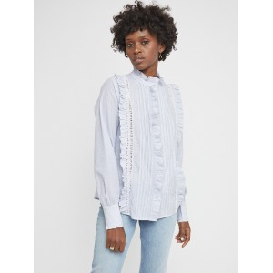 Berenice Striped Frill Blouse