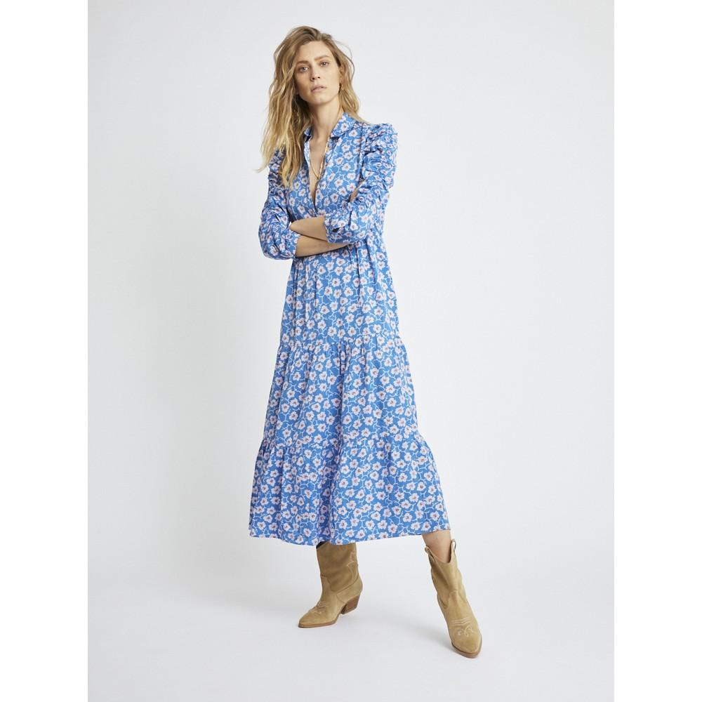 Berenice Rozenn Dress in Milos Print Blue