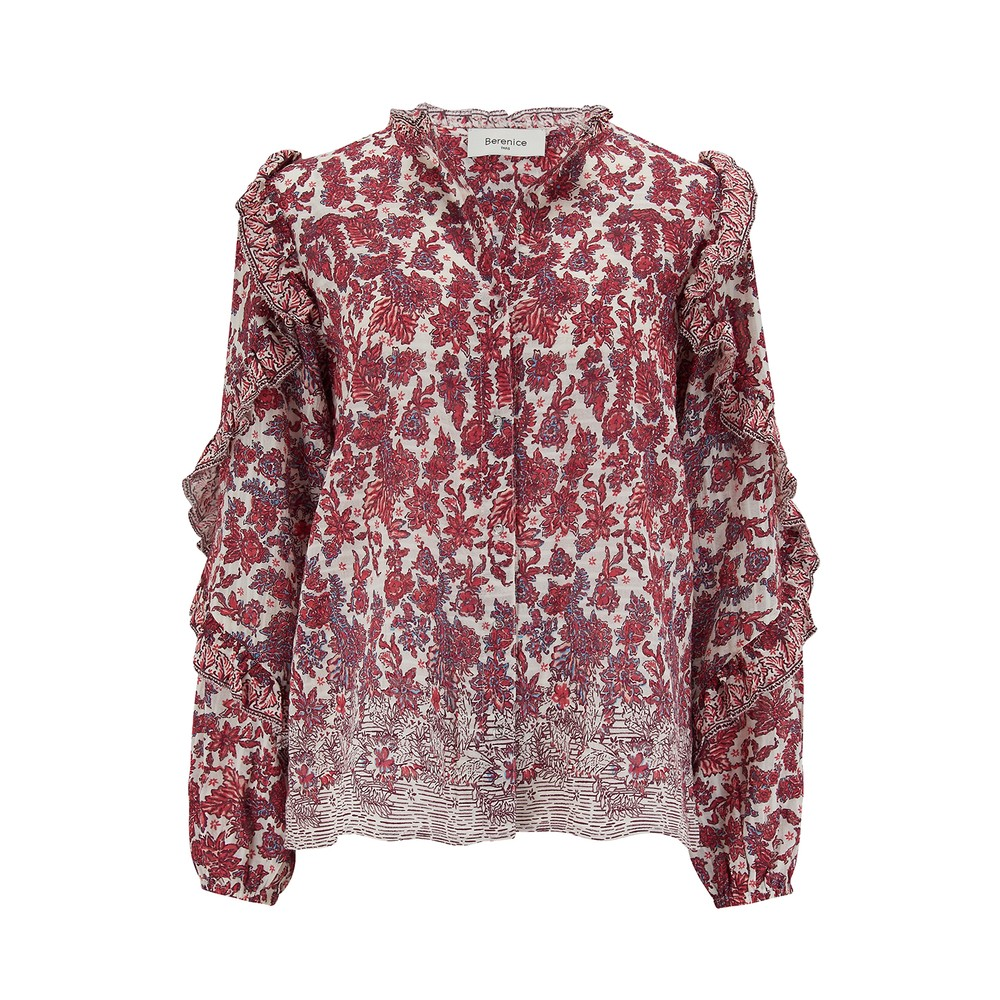 Berenice Timotee Blouse in Red Red