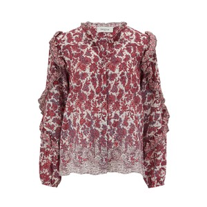 Berenice Timotee Blouse in Red