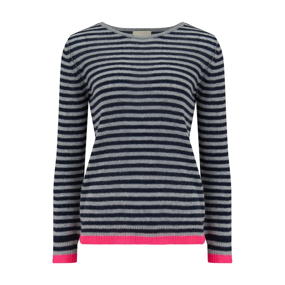 Jumper 1234 Little Stripe Crew Blue