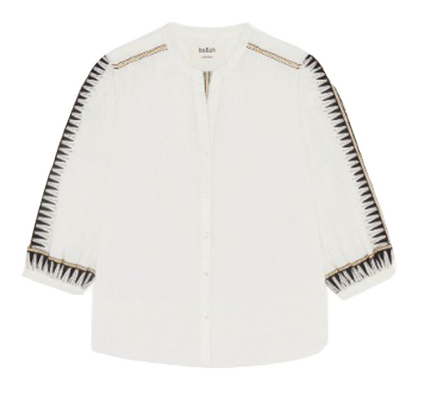 Ba&sh Divine Blouse in Blanc White
