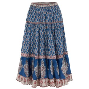 Mabe Madi Midi Skirt in Blue