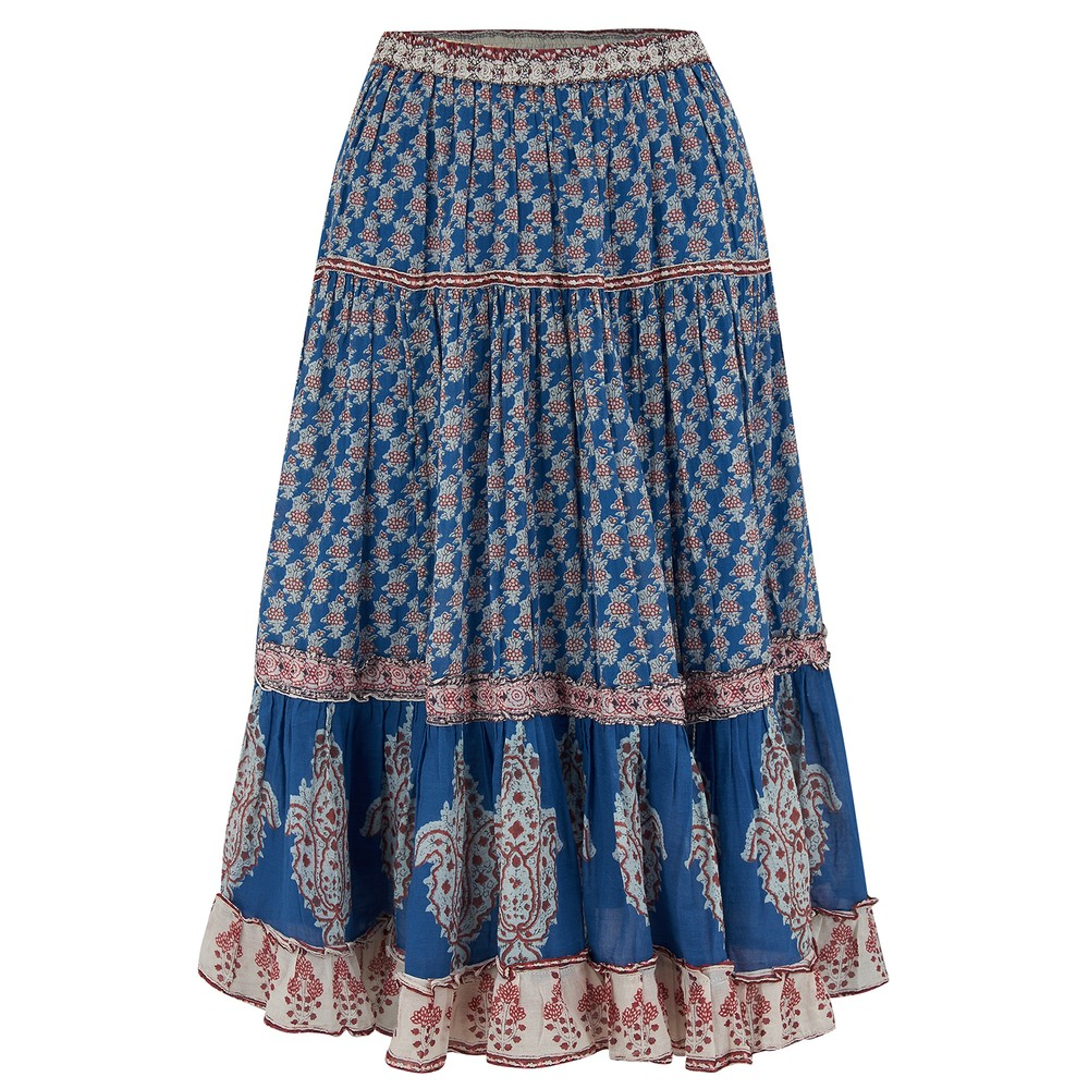 Mabe Madi Midi Skirt in Blue Blue
