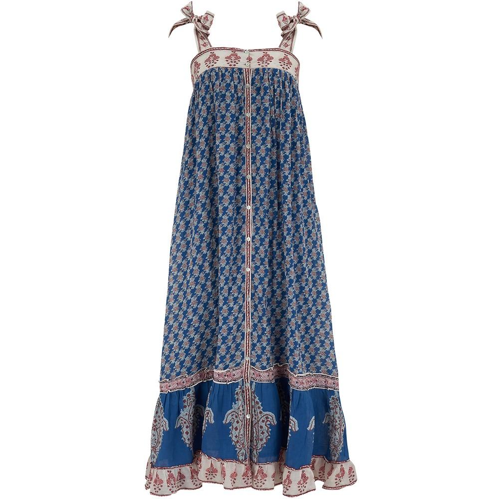 Mabe Madi Print Maxi Sundress Blue