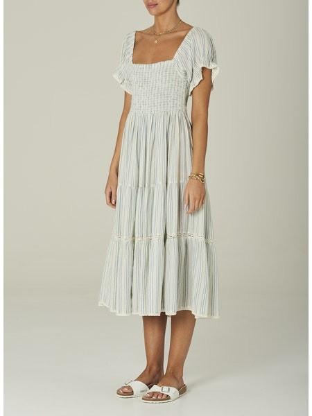 Mabe Rae Sundress White