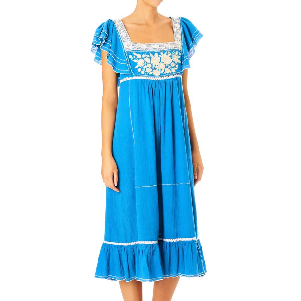 Mabe Alberta Dress in Blue Bright Blue