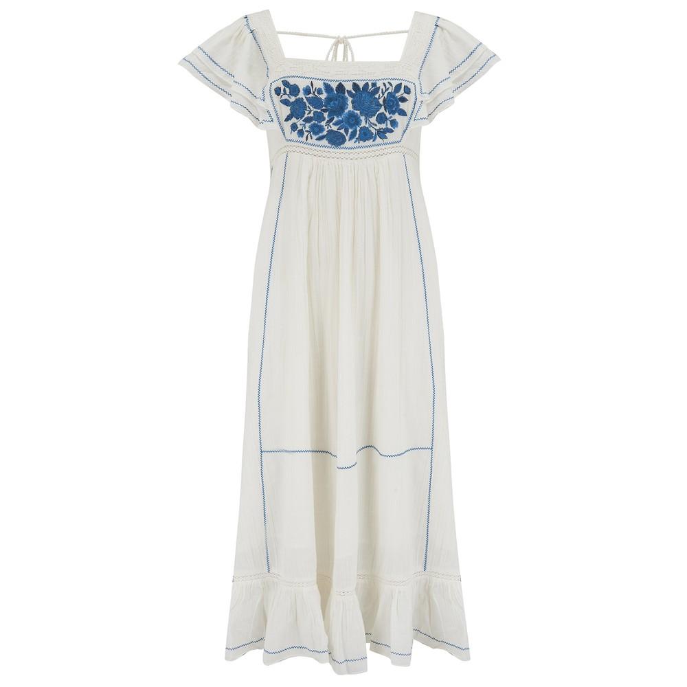 Mabe Alberta Dress in White White