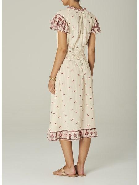 Mabe Mia Print Midi Dress White