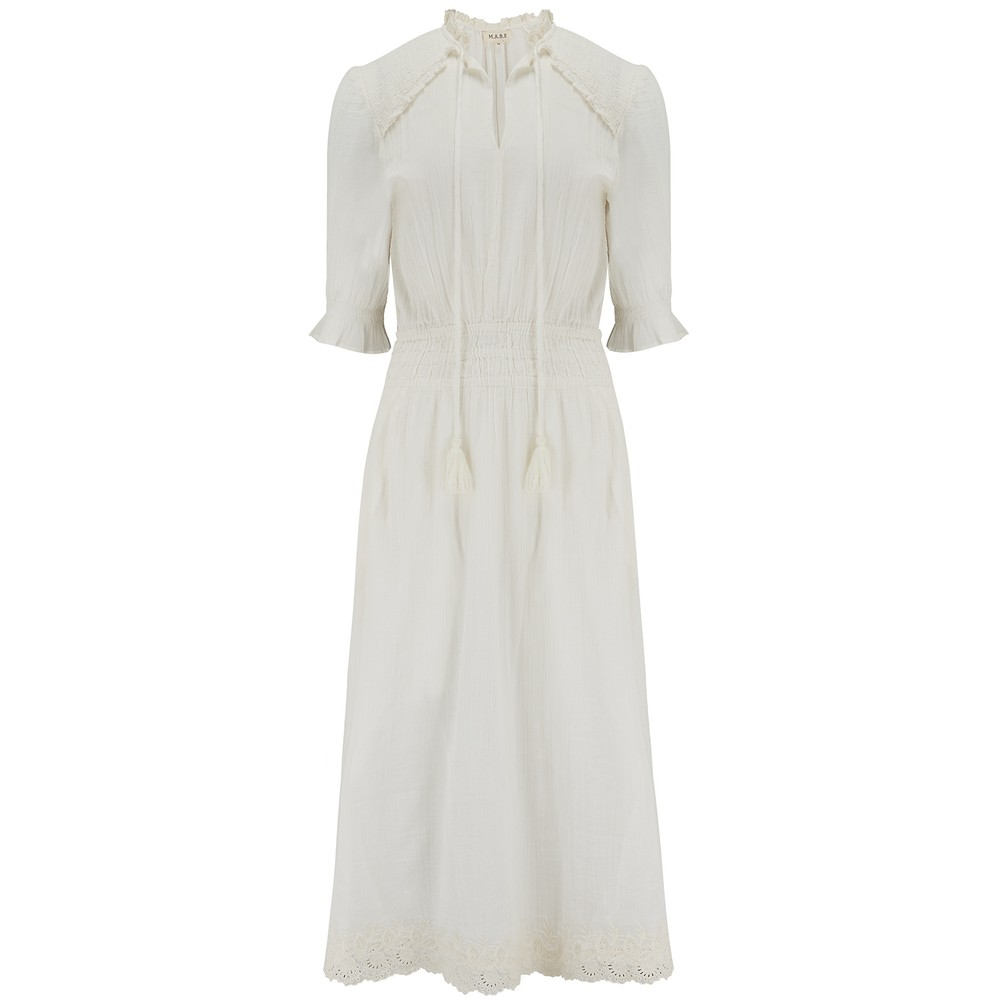 Mabe Ines Midi Dress White