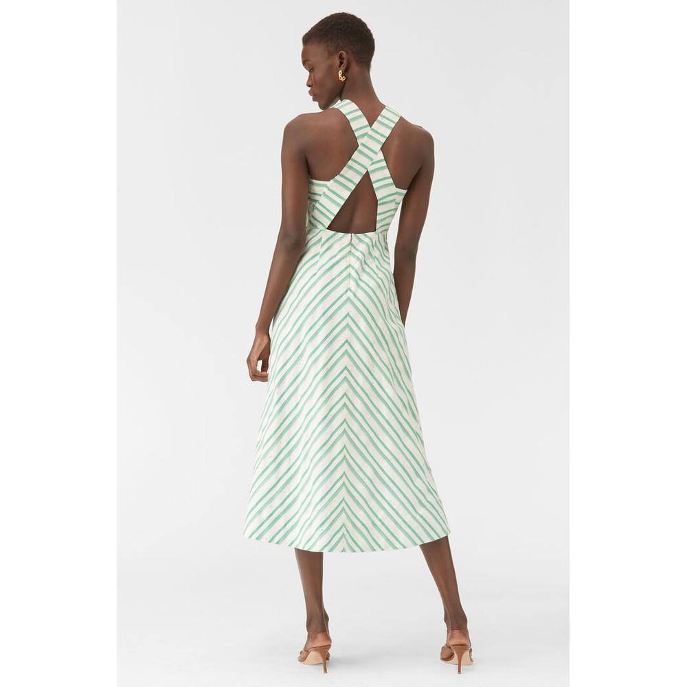 Rebecca Taylor Sleeveless Stripe Dress Green