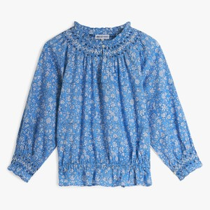 Pink City Prints Beatrice Blouse in Cornflower Blue