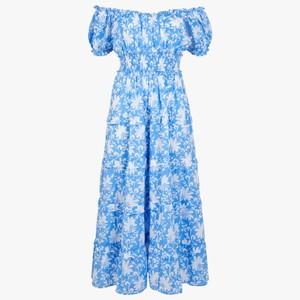 Pink City Prints Rah Rah Dress in Cornflower Blue