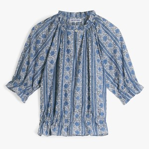 Pink City Prints Beatrice Short Sleeve Blouse