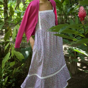 Pink City Prints Elena Dress in Ditsy Glade