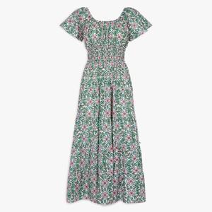 Pink City Prints Rah Rah Spanish Dress in Retro Blush
