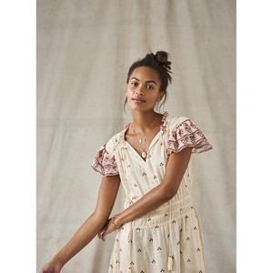 Mabe Mia Print Midi Dress