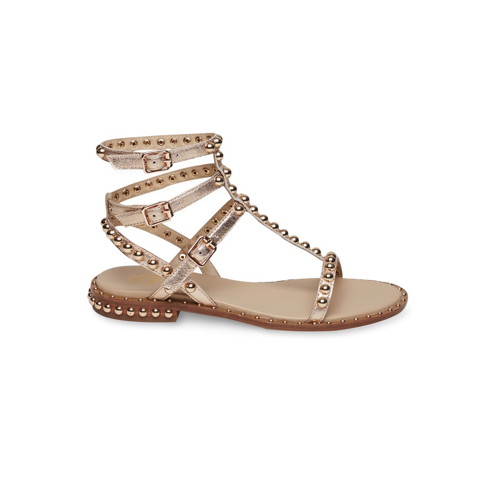 Ash Play Studded Sandals in Metallic Metallic