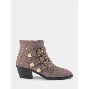 Sofie Schnoor Studded Ankle Boots in Grey