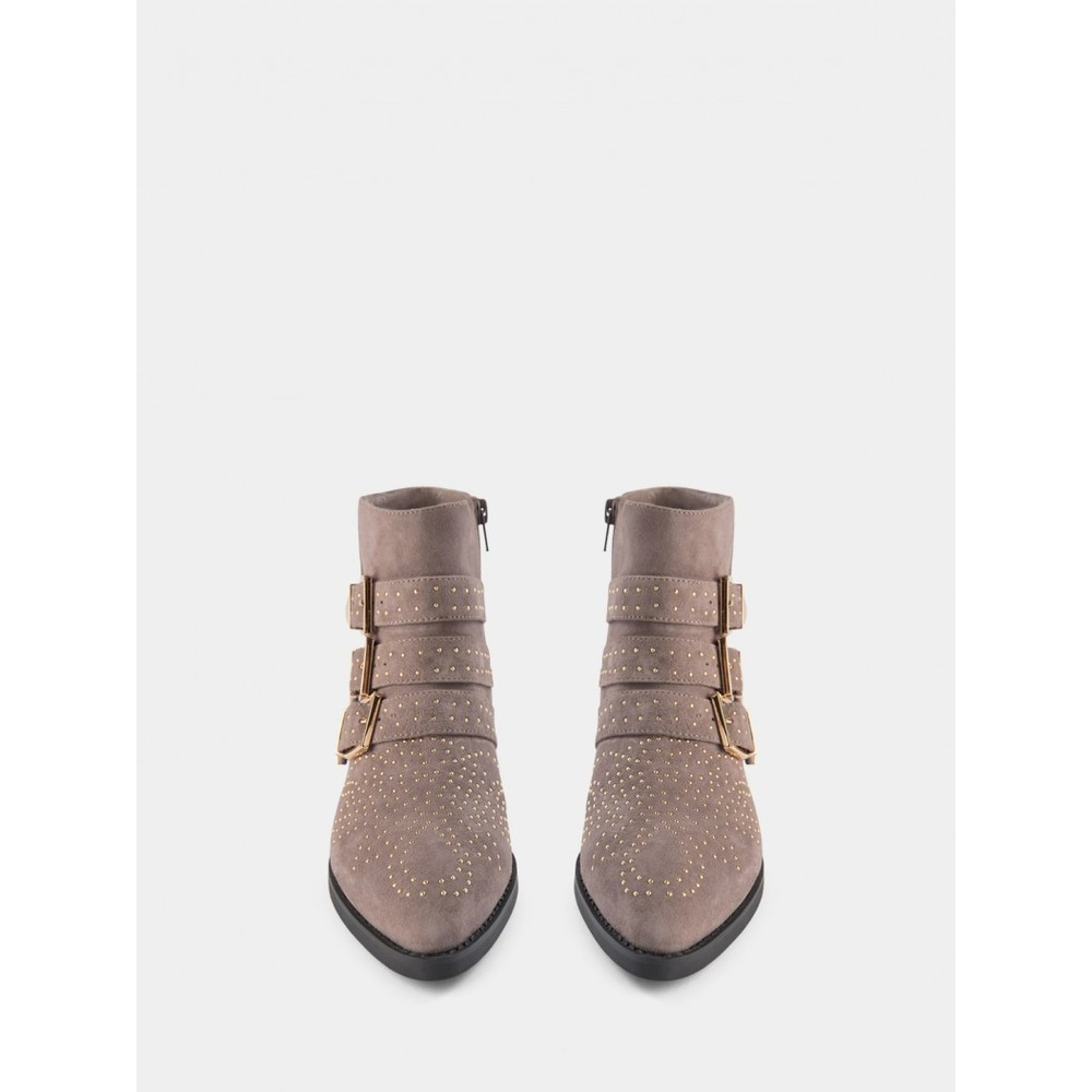 Sofie Schnoor Studded Ankle Boots in Grey Grey