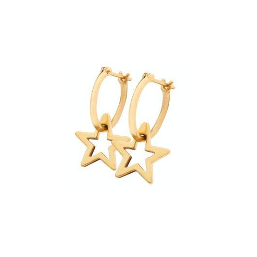 Sophie Lis Sirius Star Hoop Earrings gold Gold