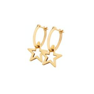Sophie Lis Sirius Star Hoop Earrings gold