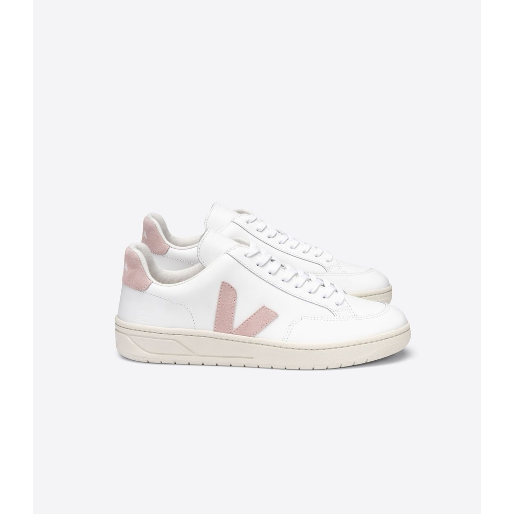 Veja V12 Trainers in Babe Pale Pink