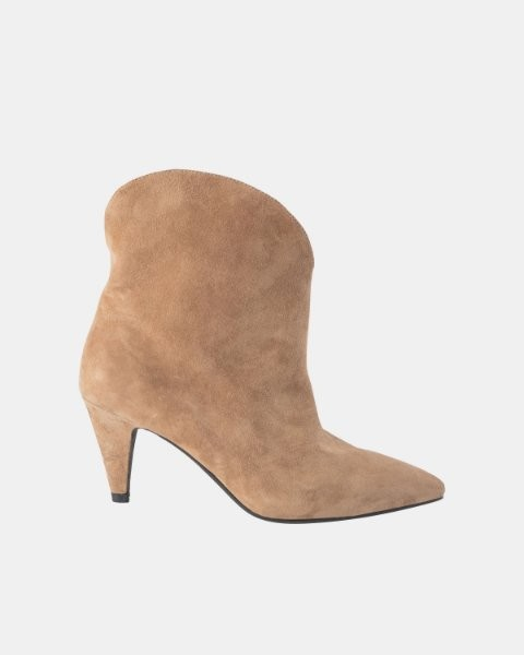 Sofie Schnoor Loucia Suede Ankle Boots in Taupe Beige