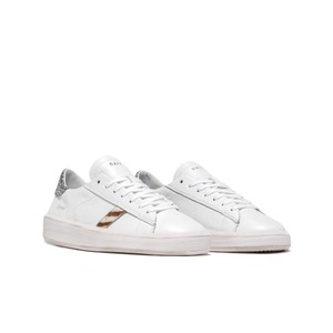 Date Ace Pop Glitter White and Silver Trainers