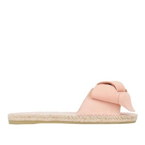 Manebi Hamptons Sandals With Bow in Rose