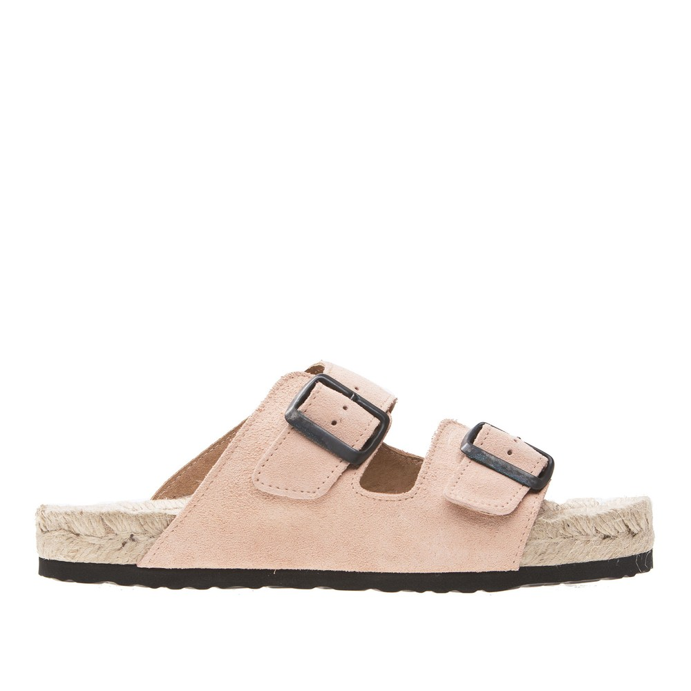 Manebi Hamptons Nordic Sandals Pale Pink