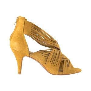 Sofie Schnoor Molly Suede Heels in Gold